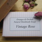 Oranges and Orchid Natural Handmade Soaps