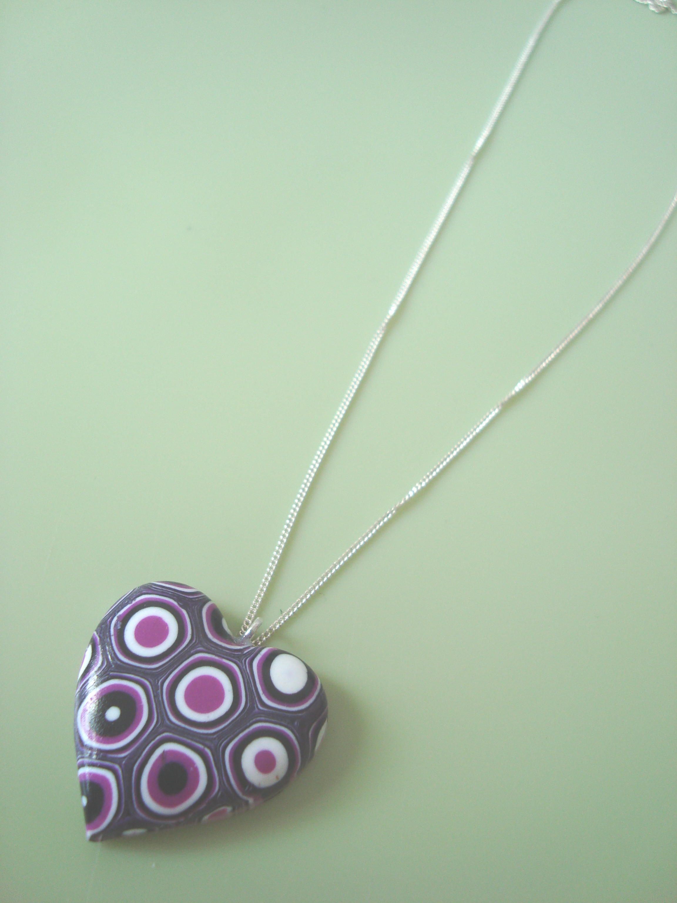 Polymer clay pendant tutorial the crafty network we then finished the pendant by hanging it on a silver plated chain but you can choose to make it into anything you like aloadofball Images