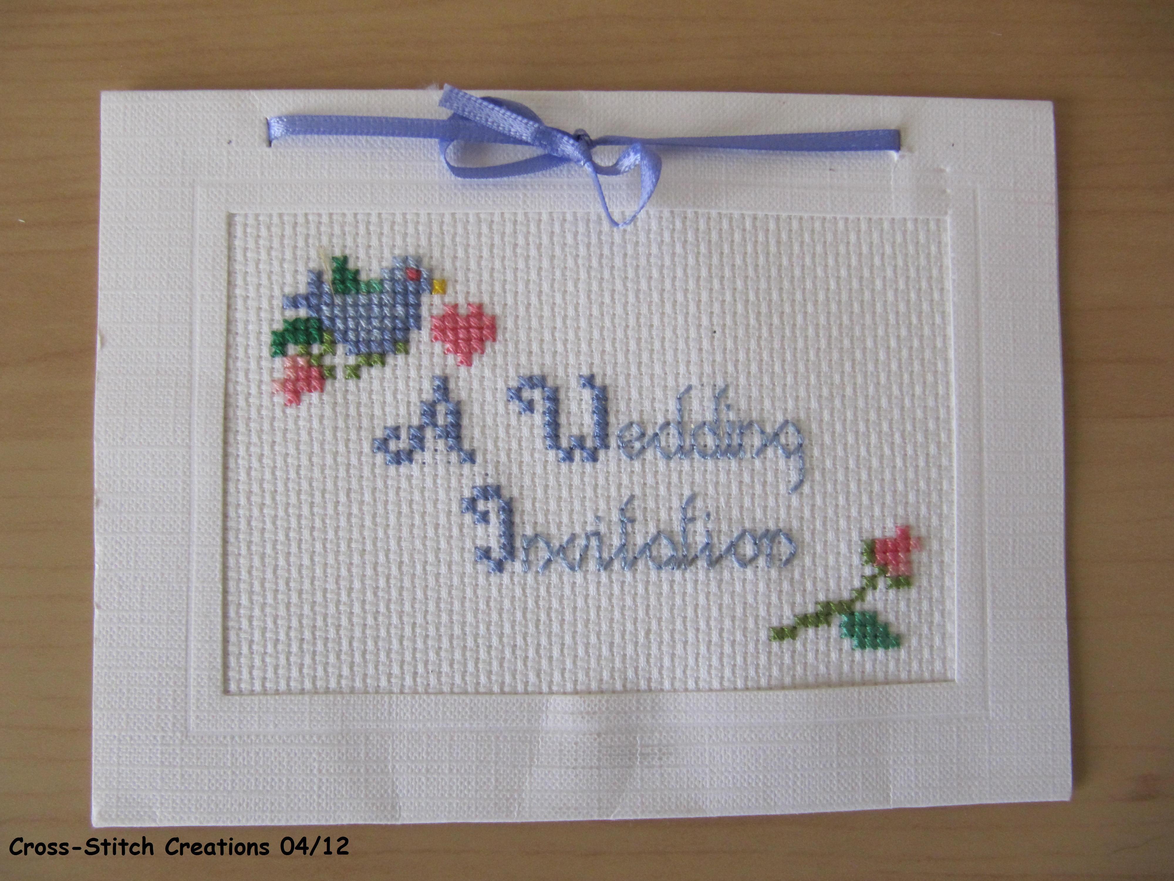 Cross Stitch Wedding Invitations | The Crafty Network
