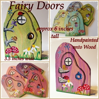 Hbp005 large wooden fairy doors hancrafted by picto for Fairy doors for sale