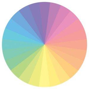 Pastel colour wheel