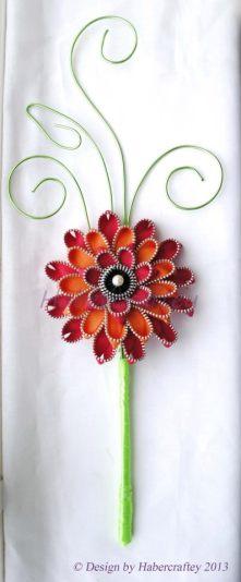 10. Zipped together by Habbercrafty bridesmaid keepsake wand
