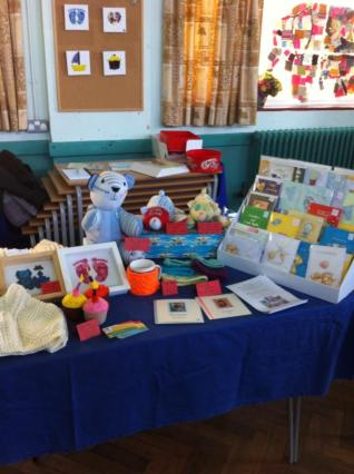 12. SBM Crafts and cards stall set up
