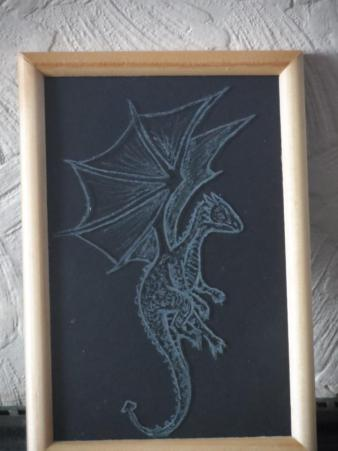 16. Frantastique hand etched glass