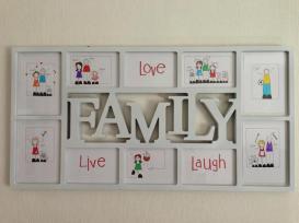 7. Black Shoe family frame