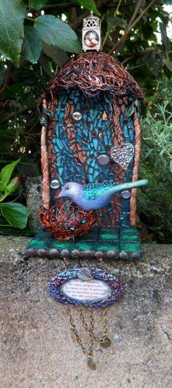 8. Once upon mixed media bird shrine