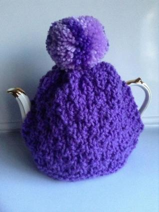 Purple teacosy