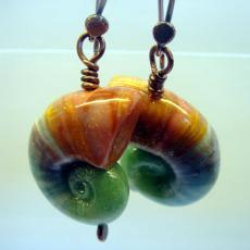Shoogly Beads nautilus earrings