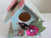 Hand decorated Little Bird House