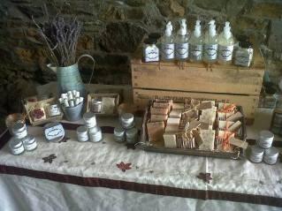 1. The Little Cornish Soap Company display