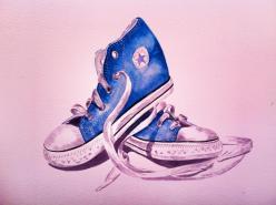 8. Louise Hickman Artworks Blue Converse