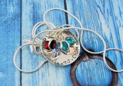 Delena Ciastko Designs pendant with birthstones
