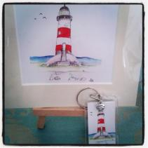 House of Redgrave Lighthouse painting and keyring
