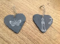 Our Slice of Country Life heart slates