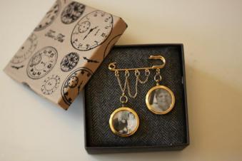 Pearls and Petticoats brooch pin