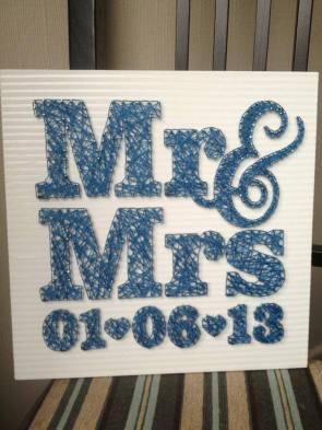 Sian Rudkin crafts Mr & Mrs
