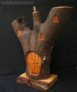 1. Woodsplinterworkshop ~ Handcarved Fairy House