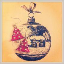 10. Poppys Parlour christmas tree earrings