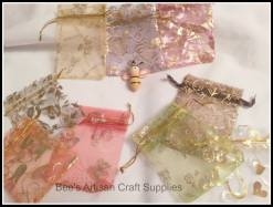 11. Bee's Artisan Craft Supplies organza bags Any 12 for £1