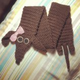 15. Unraveled mess toddlers dachshund scarf