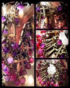 Superdoss ~ gothic charm bracelet