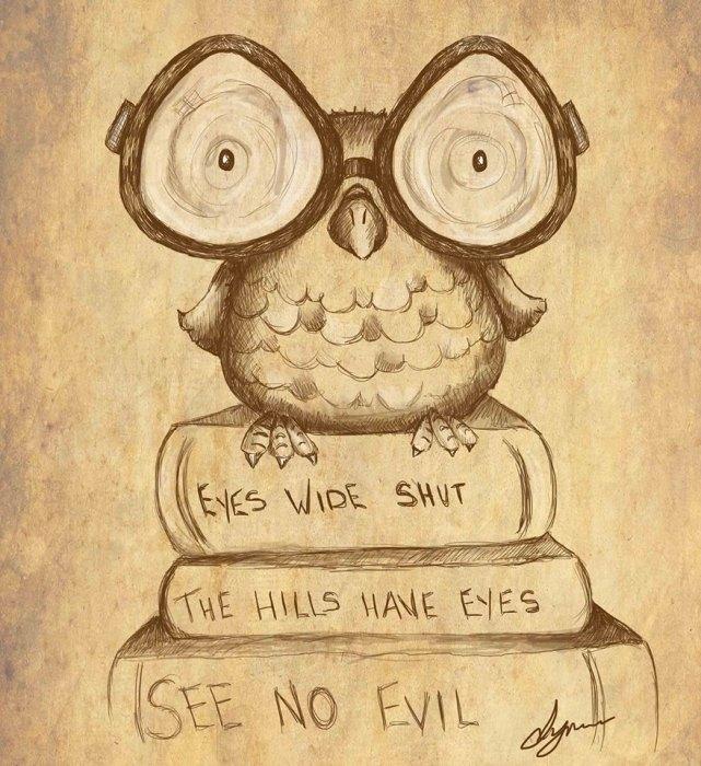 2. Lynn Adams Illustration shortsighted owl