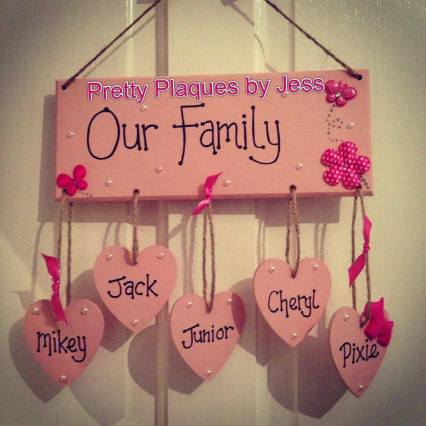 2. Pretty Plaques by Jess our family plaque