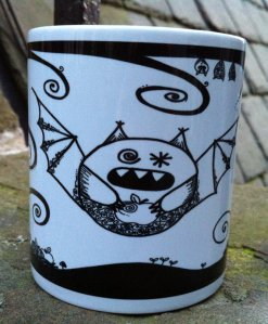 WhimSicAL LusH ~ Halloween Boris the Vampire bat mug