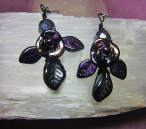 Tangled Tendrils ~ Dark Moon Earrings