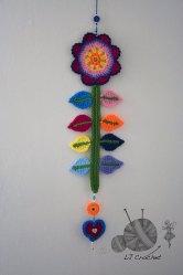 8. L J Crochet flower