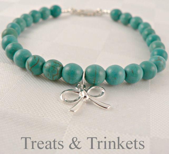 9. Treats & Trinkets birthstone bracelet ~ December