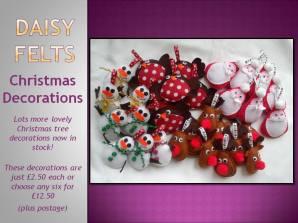 1. DAISY FELTS felt christmas tree decorations