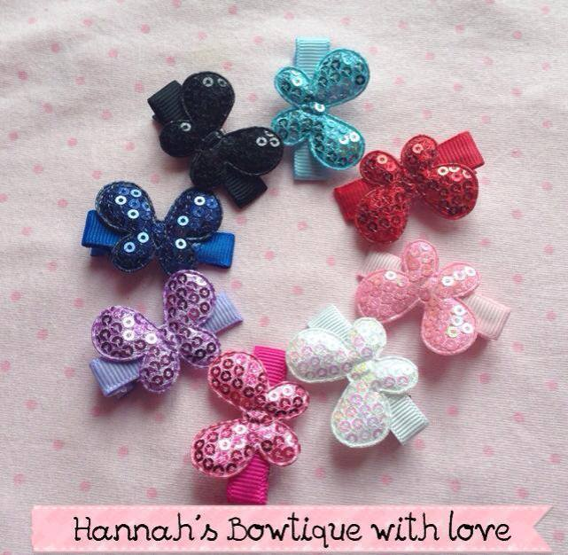 1. Hannah's Bowtique with Love butterfly clips