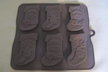 3. Baked by Me ~ festive stocking moulds