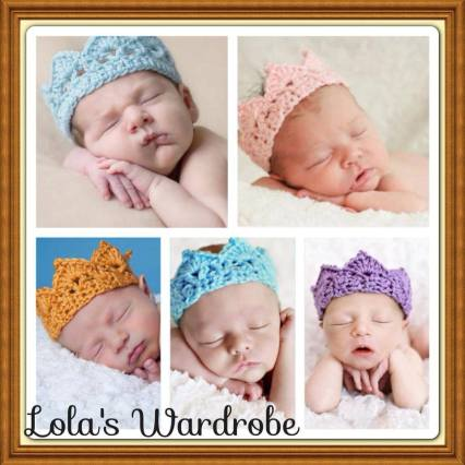 3. Lola's Wardrobe crochet crown