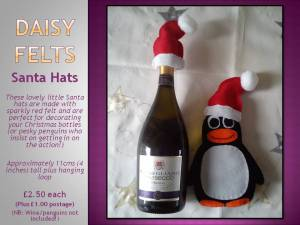 4. DAISY FELTS Item 1daisy felts santa hats