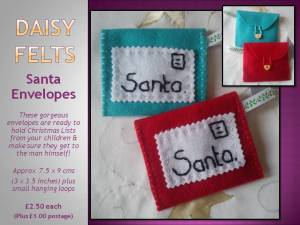 4. DAISY FELTS Item 2 daisy felts santa letter holders