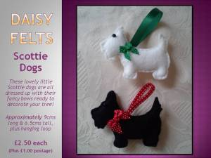 4. DAISY FELTS Item 4 daisy felts scottie dogs