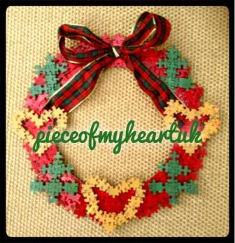 4. Pieceofmy heartuk christmas wreath