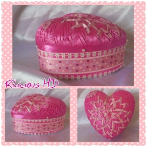 6. RIBBONLICIOUS HANDMADE DECORATIONS Item 1 Keepsake box