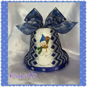 6. RIBBONLICIOUS HANDMADE DECORATIONS Item 4 Christmas bell