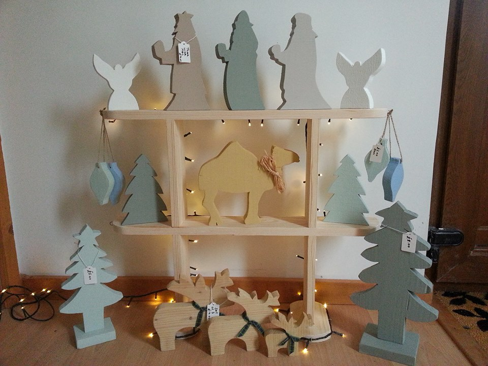 Sallys home made crafts wooden christmas decorations the