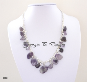 7. GEORGIA P DESIGNS Item 5 Amethyst Nugget necklace