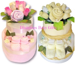 8. DINKY TOES NAPPY CAKES Item 1 Bouquet Nappy cake