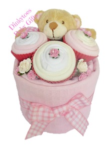 8. DINKY TOES NAPPY CAKES Item 2 Cupcake Nappy cake