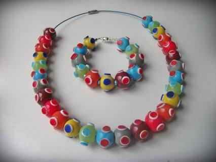 8. For Your Beads Only caterpillar necklace and bracelet