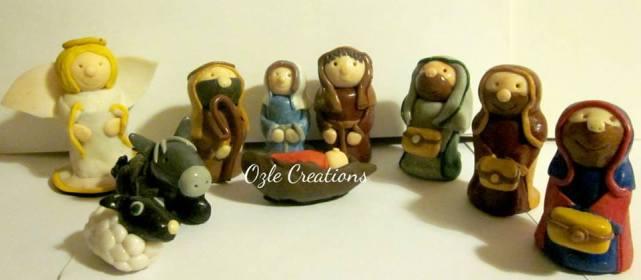 9. Ozle Creations nativity scene