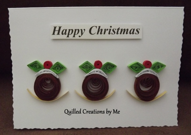 9. QUILLED CREATIONS BY ME Item 3 Christmas Pudding card