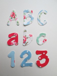 My Craft House Cath Kidston Lollipop Letters numbers