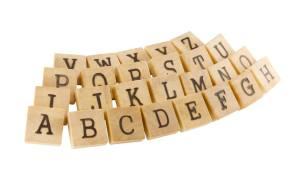 Personalised wooden blocks alphabet